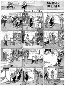 Extrait du comic strip Bringing up father, par George McManus (1884–1954).  Daté du 31 janvier 1920