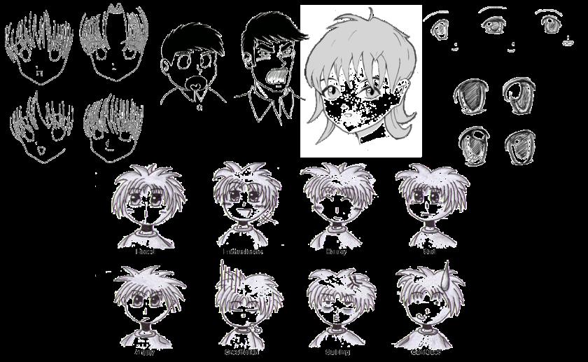 Codes grapholexiques utilisés pour les mangas et animes. Images provenant de Wikimédia.