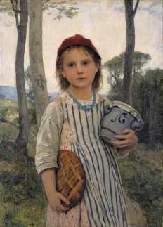 Le petit chaperon rouge, 1883, huile sur toile, par Albert Anker. Source: Wikimédia. Crédits: http://www.gianadda.ch/f/infos/presse.html