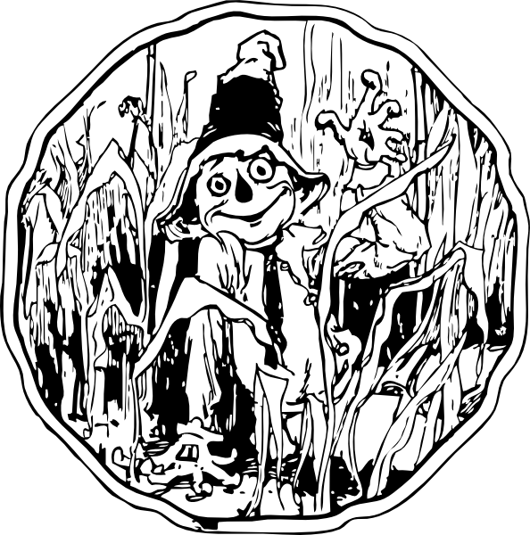 Scarecrow_In_The_Corn_clip_art_hight