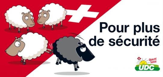 """Affiche de la campagne UDC pour son initiative sur le renvoi des """"étrangers criminels""""."""