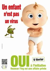 """Affiche de campagne pour l'initiative """"Financer l'avortement est une affaire privée"""""""