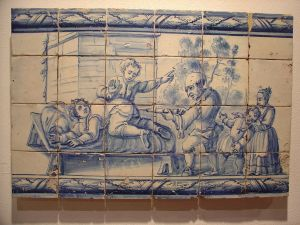 Scène de lavement au XVIIIe siècle. Museu Nacional do Azulejo, Lisbonne (Source: http://fr.wikipedia.org/wiki/Lavement#mediaviewer/Fichier:Clyst%C3%A8re_Museu_Nacional_do_Azulejo.JPG.). CC BY-SA 3.0