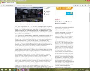 """Capture d'écran du billet intitulé """"Brétigny : les jeunes vous emmerdent"""", au 1er juin 2014. [Cliquer pour agrandir l'image]"""