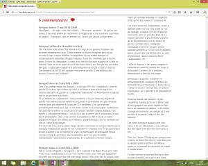"""Capture d'écran des commentaires sur la page du billet intitulé """"Petite étude du traitement médiatique de l'UDC"""" au 1er juin 2014. [Cliquer pour agrandir l'image]"""