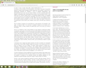 """Capture d'écran du billet intitulé: """"RSR : comment exécuter – symboliquement – un jeune UDC ?"""" au 1er juin 2014. [Cliquer pour agrandir l'image]"""